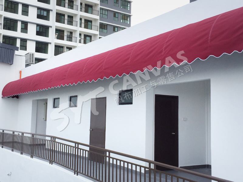 Permanent & retractable awning